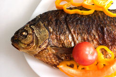Grilled carp Royalty Free Stock Image
