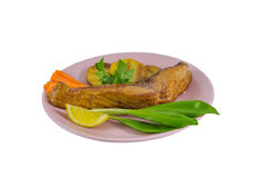 Grilled carp dish Stock Image