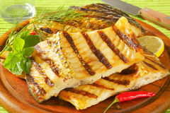 Grilled Carp Fillets Royalty Free Stock Photography