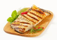 Grilled carp fillets Royalty Free Stock Photo