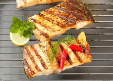 Grilled carp fillets Royalty Free Stock Image