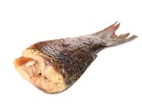 Grilled carp fish tail. Royalty Free Stock Photography