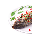Grilled carp with peppercorn. Stock Photos