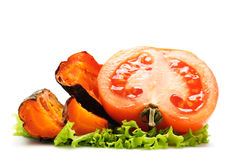 Grilled carrot and tomato Royalty Free Stock Photography
