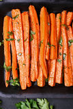 Grilled carrots, top view Stock Photos