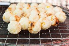 Grilled cassava mix corn Royalty Free Stock Image