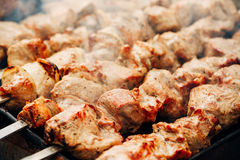 Grilled caucasus barbecue Stock Image