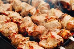 Grilled caucasus barbecue Royalty Free Stock Photos