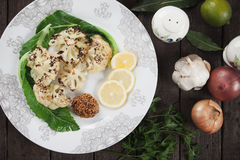 Grilled cauliflower Royalty Free Stock Photo