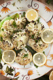 Grilled cauliflower Stock Photography