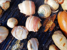 Grilled champignons Royalty Free Stock Photo
