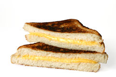 Grilled cheese. Sandwich isolated on white Royalty Free Stock Image