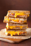 Grilled cheese and bacon sandwich Royalty Free Stock Photos