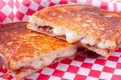 grilled cheese and bacon sandwiches Royalty Free Stock Photography