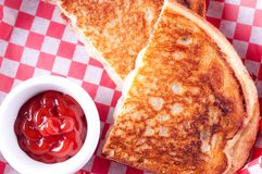 grilled cheese and bacon sandwiches Royalty Free Stock Photo