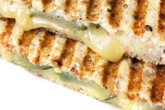 Grilled Cheese and Pickle Sandwich Royalty Free Stock Images