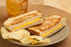 Grilled cheese sandwich Royalty Free Stock Photo