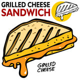 Grilled Cheese Sandwich. An image of a Grilled Cheese Sandwich Royalty Free Stock Image