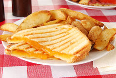 Grilled cheese sandwich Royalty Free Stock Image