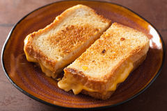 Grilled cheese sandwich for breakfast Stock Photography