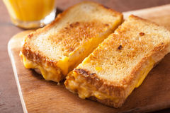 Grilled cheese sandwich for breakfast Stock Image
