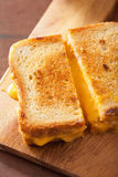 Grilled cheese sandwich for breakfast Royalty Free Stock Photos