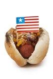 Grilled cheese sandwich hotdog Stock Photos