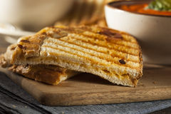 Grilled Cheese Sandwich with Tomato Soup Royalty Free Stock Photography