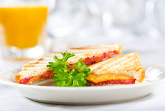 Grilled cheese sandwiches Royalty Free Stock Image