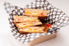 Grilled cheese and tomato sandwich take out Royalty Free Stock Photo
