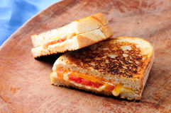 Grilled cheese and tomato sandwiches Royalty Free Stock Photos