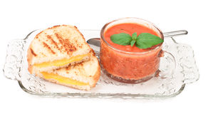 Grilled cheese and tomato soup Stock Image