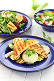 Grilled cheese with vegetables Stock Images