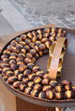 Grilled chestnuts Royalty Free Stock Image