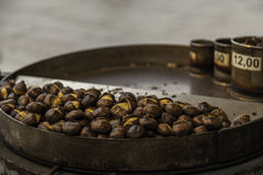 Grilled chestnuts Royalty Free Stock Photography