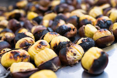 Grilled chestnuts Royalty Free Stock Images