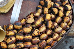 Grilled chestnuts Royalty Free Stock Photos