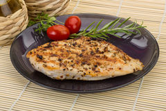 Grilled chichen breast Stock Photos