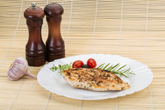 Grilled chichen breast Royalty Free Stock Photos