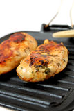 Grilled chicken. Seasoned grilled chicken, healthy and fat-free food Stock Photo