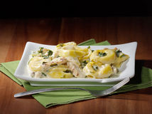 Grilled chicken asiago tortellini Royalty Free Stock Images