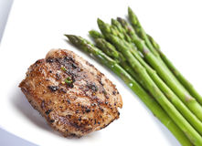 Grilled Chicken With Asparagus Royalty Free Stock Images