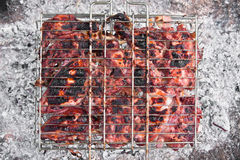 Grilled chicken barbeque Royalty Free Stock Images