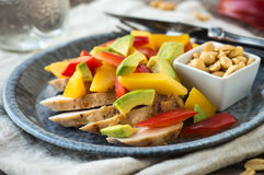 Grilled Chicken Bento Royalty Free Stock Photos