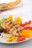 Grilled chicken breast and citrus salad Royalty Free Stock Photography