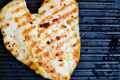 Grilled chicken breast. In frypan Stock Image