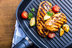 Free Grilled Chicken Breast In Different Variations With Cherry Tomat Royalty Free Stock Image - 60747986