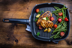 Free Grilled Chicken Breast In Different Variations With Cherry Tomat Royalty Free Stock Image - 60747996