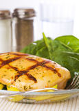 Grilled chicken breast meal Stock Photo