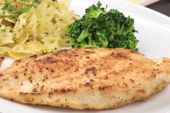 Grilled chicken breast plate Stock Photos